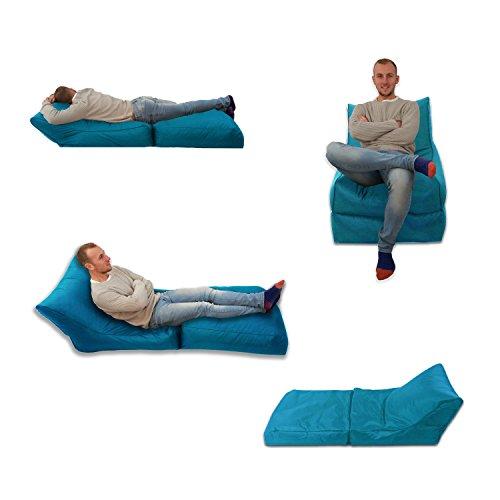 Sitzsack/Sessel, blaugrün, Aqua, für Innen und Außen, Extra groß, Gaming-Sitz, XXXL, wetterfest, wasserabweisend)