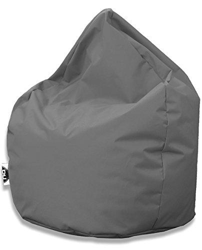 Kissenportal24 Sitzsack Tropfenform für In & Outdoor | XXL 420 Liter - Anthrazit - in 25 versch. Farben und 3 Größen