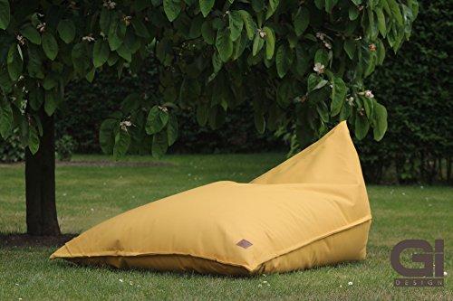 """Outdoor und Indoor XXL Sitzsack, Relaxsessel """"ChillOut"""", abwaschbar, wasserfest, Markenware von GI Design (Senfgelb)"""