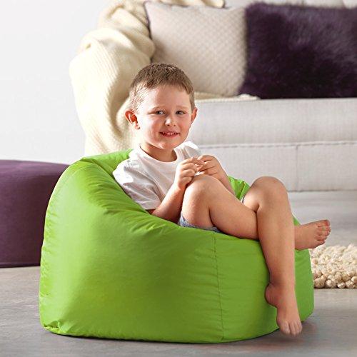 Bean Bag Bazaar® Sitzsack, Kinder Taschen–100% Wasserabweisend Indoor & Outdoor Riesen Kinder Bean Bag Sessel, lindgrün