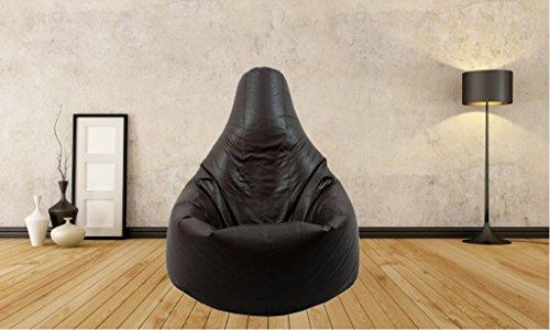Sitzsack Schwarz Highback Wasserfeste Sitzsäcke für den Innen- und Außenbereich, ideal für piel und Garten, (Sitzsack Kein Füllstoff)