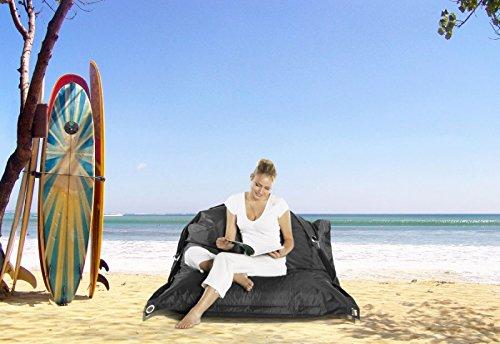Smoothy Outdoor Sitzsack Supreme mitternachtsschwarz; robust, bequem, schwarz, 185x145cm