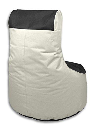 Kinzler S-10121/58 outdoorfähiger Sitzsack /Sessel, ca. 80x80x90 cm, 2-farbig, anthrazit