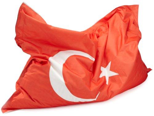 Kinzler K-11290/399 Riesensitzsack Flagge Türkei 140x180 cm, bunt