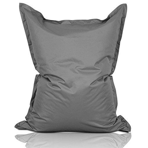 Lumaland Luxury Riesensitzsack XL Sitzsack 270l Füllung 120 x 160 cm Indoor Outdoor Grau
