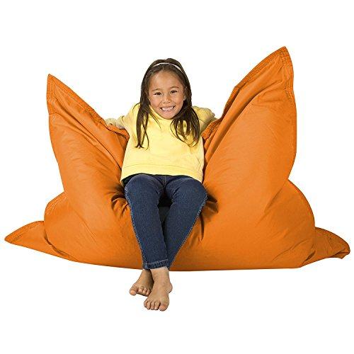 Hi Kids Bagz Sitzsack 4-Wege-– Liege, orange Bean Bags Outdoor Sitzkissen–100% Wasserabweisend Sitzsack für Kinder