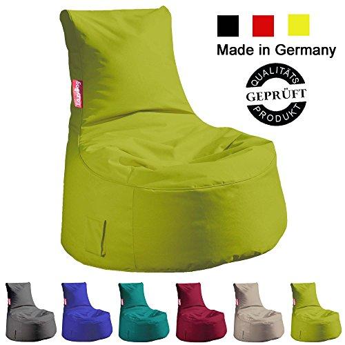4 Trendy Living Sitzsack Sessel/Sitzkissen/LazyBag/In- u. Outdoor geeignet/95x90x65m/grün (kiwi)