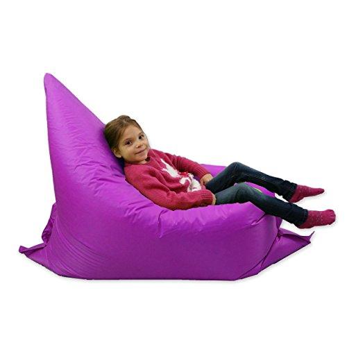 Kinder-Sitzsack, groß, 6-Wege-Lounger, riesiger Kindersitzsack für draußen, Lila 100% wasserfest,