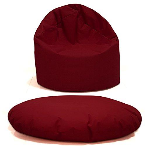 Sitzsack 2 in 1 Sitzbag Größe S-M-L-XL-XXL-XXXL-XXXXL mit Styropor Füllung - In & Outdoor - verschiedene Farben & Größen