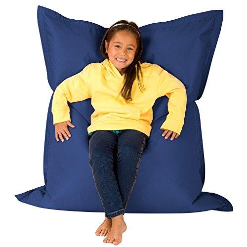 Bean Bag Bazaar® Hi Kids Bagz 4-Wege-Liege Outdoor Boden cushion-100% wasserabweisend Kinder Sitzsäcke, Polyurethan, marine, 125x 100x 20cm