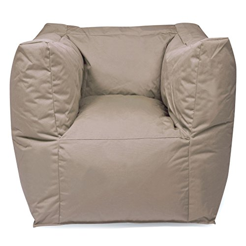 """Outdoor Sitzsack Sessel """"Valley Plus"""" wetterfest frostsicher Hocker Gartenstuhl Gartensessel Gartenliege für draußen Outdoor Lounge Gartenmöbel moderner Look (Mud)"""