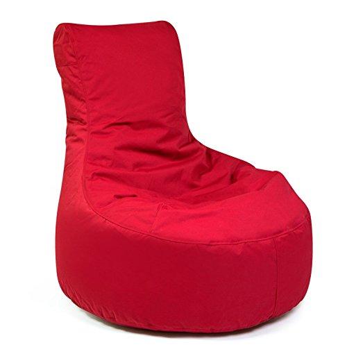"""Outdoor Sitzsack """"Slope Plus"""" wetterfest frostsicher Gartenstuhl Gartensessel Gartenliege für draußen Outdoor Lounge Gartenmöbel modern ausgefallen (Red)"""