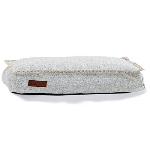 SACKit -8579011- Sitzsack-Hundekissen DOGit Cobana medium in weiß, Hundebett Indoor/Outdoor, Tiersitzsack 80x60x15cm, Anti-Rutsch Boden
