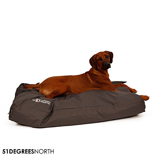 Hundebett Grau, Storm Collection von 51 Degrees North, Imperial Grey, Extra Large XL: 115x80x15cm