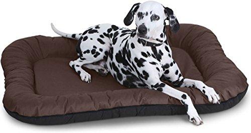 Knuffelwuff Hundebett Wasserfest In und Outdoor Lucky - Größe XXL 118 x 85cm Braun