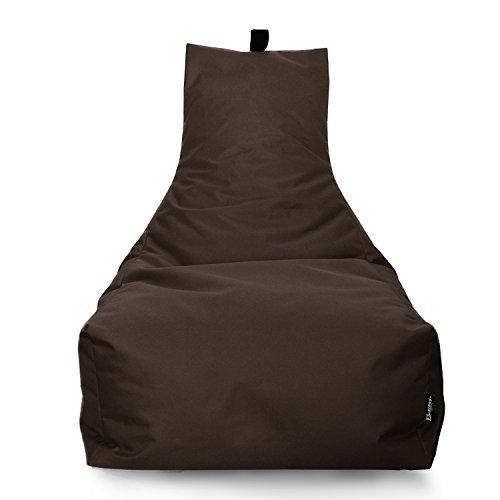 BuBiBag LOUNGE Sitzsack Sitzkissen XXL Tobekissen Bodenkissen Beanbag Kissen, für Kinder und Erwachsene (Braun)