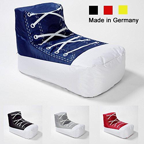 Sitzsack SNEAKER / Chuck / Schuh / LazyBag / In- u. Outdoor geeignet / 110x60x70 cm / blau-weiss