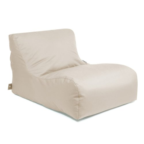 OUTBAG 'New Lounge' Outdoor-Liege, Sitzsack, deluxe skin, kiesel (beige)