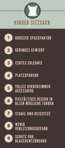 Sitzsack Kinder - Infografik